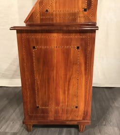 Antique Secretary Desk with bookcase- side view of the lower part- styylish