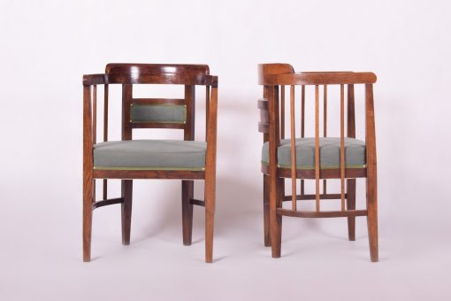 Art Nouveau Chairs and Sofa- chairs front and side- styylish