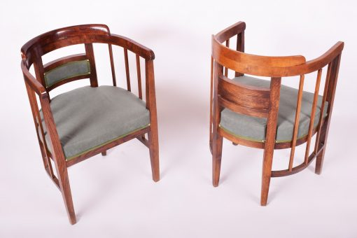 Art Nouveau Chairs and Sofa- chairs front and back- styylish