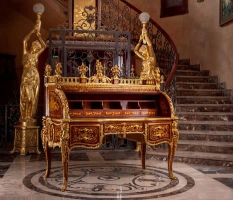 Antique Secretary Desk-Bureau du Roi-Styylish