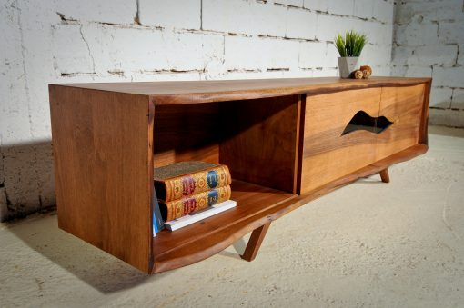 Modern sideboard- walnut with open compartment- styylish