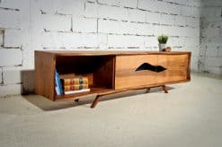 Modern sideboard- walnut with open compartment and doors- styylish