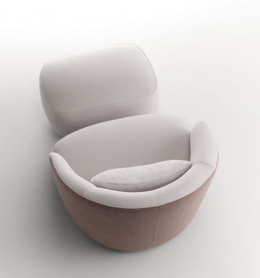 Modern Lounge chair with Footstool, view from above- Styylish