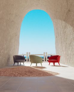 Modern armchair- view of all three colors- styylish