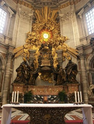 baroque style-st peter apse-stylish