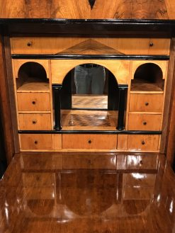 Biedermeier drop front desk- three-front view of the writing compartment- Styylish