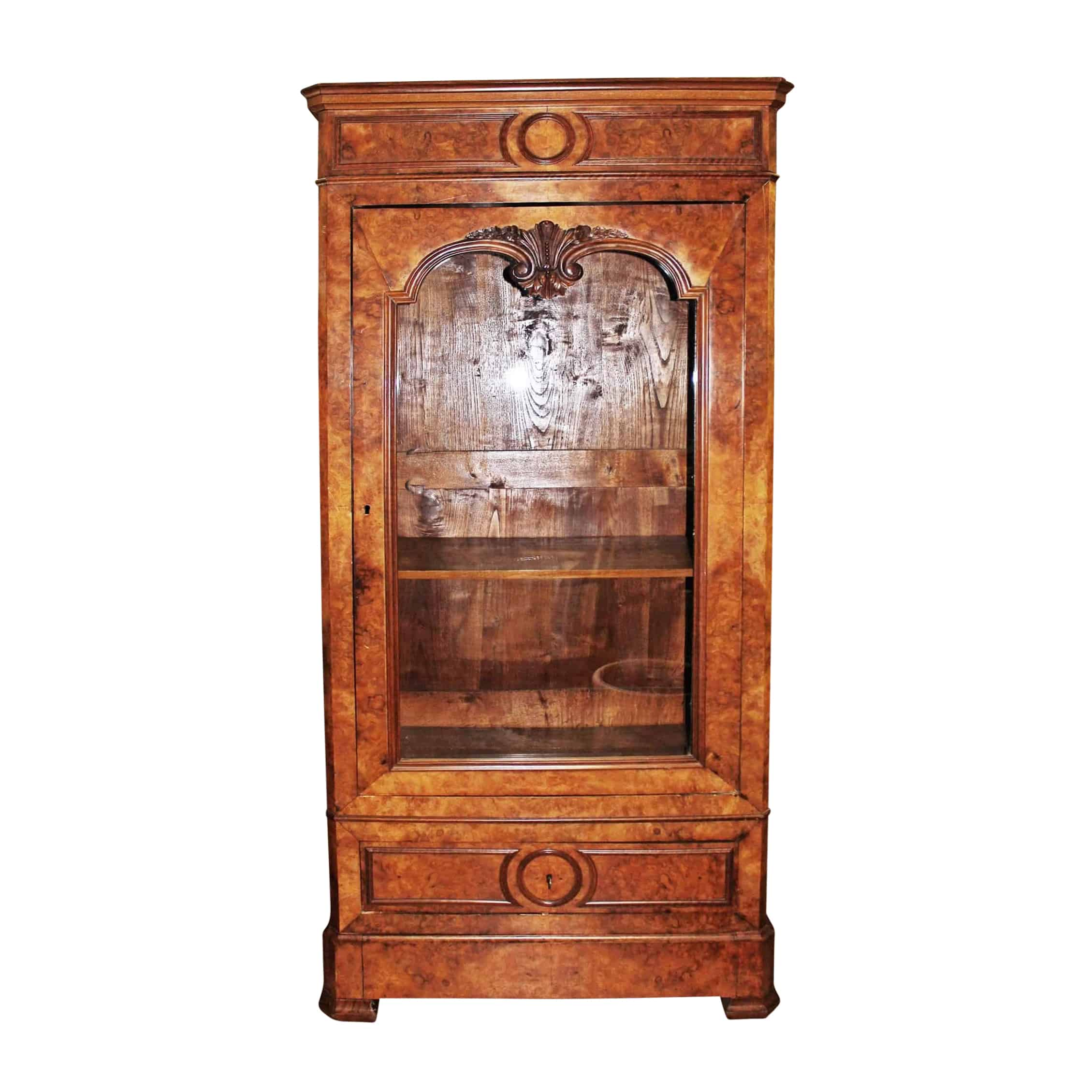 Louis Philippe Bookcase- front view- styylish