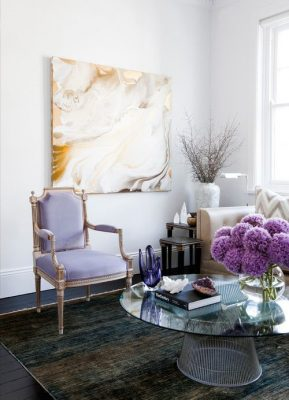 Accent chair- view of a living room- styylish