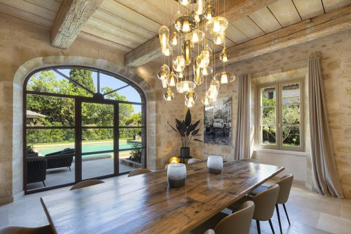 Hand blown pendant lights- view in a summer house in Provence- Styylish