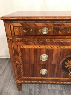 Neoclassical Dresser- king wood with marquetry, left side front- Styylish