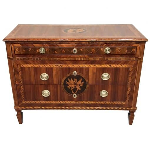 Neoclassical Dresser- king wood with marquetry- Styylish