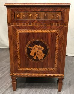 Neoclassical Dresser- king wood with marquetry-sideview with medallion- Styylish