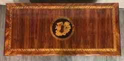 Neoclassical Dresser- king wood with marquetry-detail of top with medaillon- Styylish