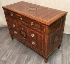 Neoclassical Dresser- king wood with marquetry-Three quarter view- Styylish