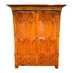 Biedermeier Armoire- cherry wood with two doors and two drawers- styylish