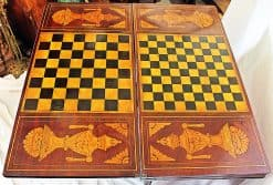 Dutch Game Table- view checkers and chess game top- styylish
