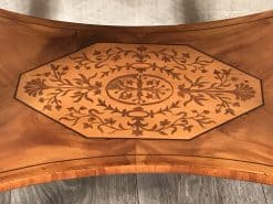 Antique Sewing Table- Biedermeier period- Detail of the lower shelf with intarsia- Styylish