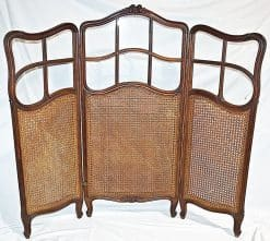 French country screen- caned with glass panels- styylish