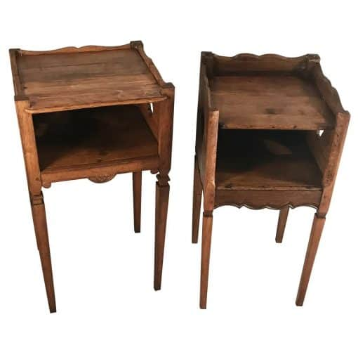 Two provincial nightstands- oak carved- styylish
