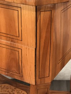Antique Sewing Table- Biedermeier period- Detail of right corner- Styylish