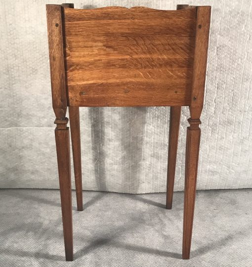 Two provincial nightstands- one of the two- back view- styylish