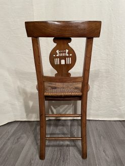 Rustic chairs- view of the back of the chair- styylish