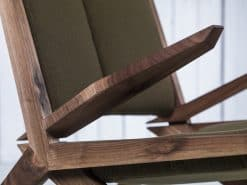 Modern Custom Made Lounge Chair- detail of the front- styylish