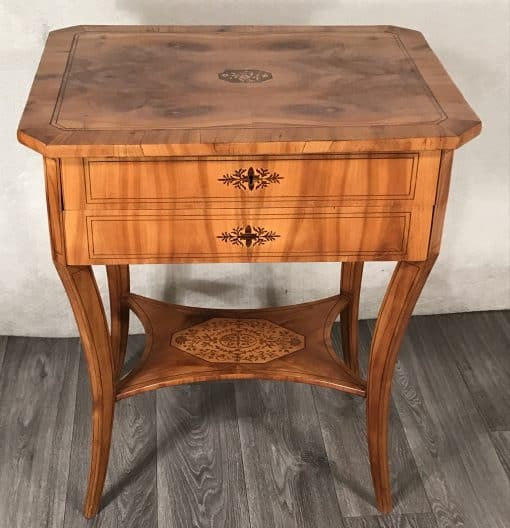 Antique Sewing Table- Biedermeier period- Front view- Styylish