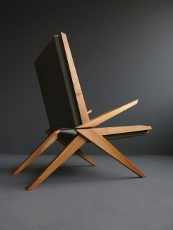 Modern Custom Made Lounge Chair- View from the side- styylish