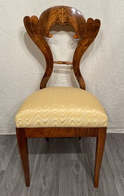 Viennese Biedermeier chairs - front view of one chair- styylish