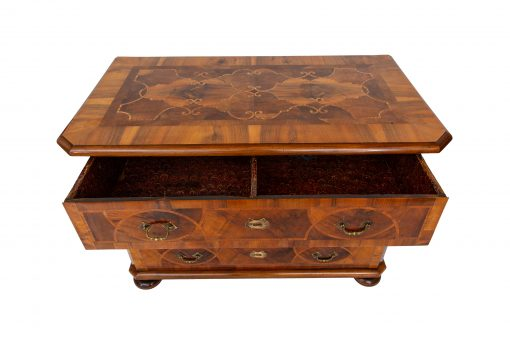 Neoclassical Furniture- view of a chest of drawers with open drawer- styylish